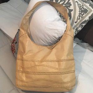 Sigrid Olsen Camel Leather Hobo Style Bag